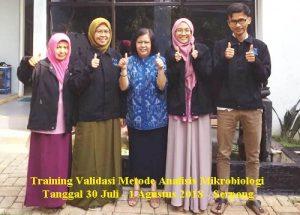 Training Validasi Metode Analisis Mikrobiologi (13-15 Agustus 2018 Serpong)